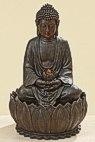 Brunnen Buddha - Buddhabrunnen H 52 cm mit ein LED-Licht und Pumpe, Wohnskulptur