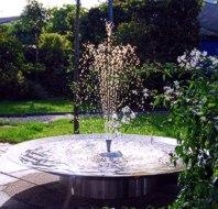 Edelstahl-Schale-Brunnen