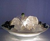 Fontänen Zimmerbrunnen Bergkristall mit Aventurin