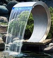 Edelstahlbrunnen zimmerbrunnen welt for Wasserfall mamba