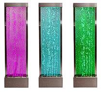 Sprudelnde Wasserwand mit bunter LED-Beleuchtung, 184 cm