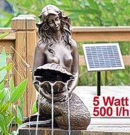 """SPRINGBRUNNEN GARTENBRUNNEN SOLAR ZIERBRUNNEN Teichpumpe Set BRUNNEN Solar """"Meerjungfrau"""""""
