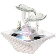 Trendline Glasbrunnen Wasserspiel für Innen